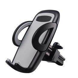 Blaue wiege online-Air Vent Car Mounts 360-Grad-Drehhalterung Universal Cradle für iPhone und Samsung Galaxy mit Einzelhandelspaket-Grau, Schwarz, Blau, Gelb