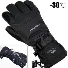 2019 мужские лыжные перчатки руно сноуборд снегоход мотоцикл езда зимние перчатки ветрозащитные водонепроницаемые унисекс снежные перчатки от Поставщики кожаное освещение