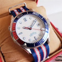 blue nato strap Promo Codes - Swiss Brand Men Watches Sea Commander Limited Edition 007 Watch 41mm Ceramic Bezel NATO Strap Automatic Movement Master Diver Watch