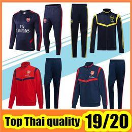 Uniforme de entrenamiento de futbol online-Chándal arsenal 2019/20 Nueva arsenal ropa de entrenamiento de alta calidad chaqueta de entrenamiento uniforme Football Chándal