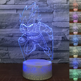 Cambiar chica online-3D Abstractive LED Night Light Touch Switch 7 Cambio de color USB Acrílico Ilusión óptica Lámpara de mesa para Boy Girl Holiday Birthday Gift