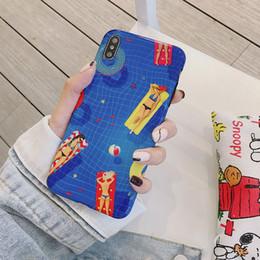 vacanza di mele Sconti Illustrazione del fumetto della cassa del telefono di festa di nuoto per Iphone Xs Max Xr 6 7 8 X Plus Custodie per telefoni cellulari TPU IMD Design