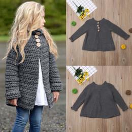 Chaquetas de seda ropa de abrigo online-Niños bebés del suéter de punto prendas de vestir exteriores de la rebeca puente caliente capa de la chaqueta