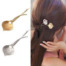Bijoux De Cheveux De Mariage De Mode Fleur Barrettes Feuille De Métal Solide Perle Cheveux Clips Épingles À Cheveux Accessoires Cheveux pour Femmes ? partir de fabricateur