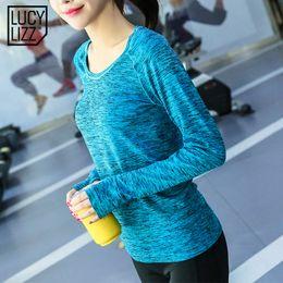 raumhemden Rabatt Lucylizz space färben sport shirt frauen trocknen schnell yoga top fitness tops laufhemd aktivbekleidung turnhalle kleidung yoga t shirts # 344695
