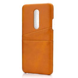 Estuche para tarjeta oneplus online-Titular de la contraportada con la tarjeta de Coque Para OnePlus 7 funda de lujo cajas del teléfono móvil Cubiertas para OnePlus 7 Pro