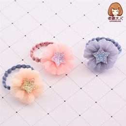fiori di panno fatte a mano Sconti 3pcs / lot Corea Handmade Cloth Flower Star Accessori per capelli del fumetto Clip di capelli forcina archi Hairgrips per le ragazze