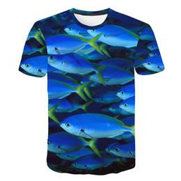 Jolies tenues de tshirt en Ligne-2019 Été 3d Tee Imprimé Cool Hommes 3d T-shirt De Poisson Hobby T-shirts Outfits Unisexe Fille Mignon Haut Hipster Chemises Surdimensionné