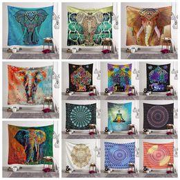 almohadillas de playa Rebajas 26 estilos Bohemian Mandala Tapestry Beach Towel Shawl Impreso Yoga Mats Poliéster Toalla de baño Decoración del hogar Almohadillas al aire libre CCA11527 30pcs