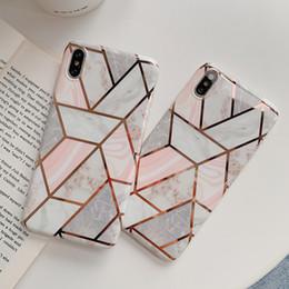 2019 textura iphone tpu Casos de telefone de textura de mármore geométrica tpu para iphone xr xs max 6 6 s 7 8 plus x macio galvanizado tampa traseira coque desconto textura iphone tpu