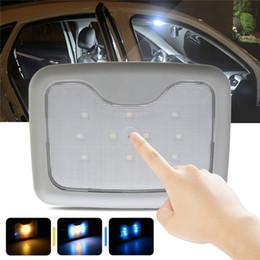 magnet blaues licht Rabatt 10 Leds gelb + Blau USB Lichtkuppel für Auto Lkw leselampe LED Lkw Licht Magnet Wiederaufladbare Lesebeleuchtung