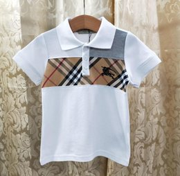хлопчатобумажная ткань Скидка Fen новая мода дети анти-воротник с коротким рукавом футболки импортные хлопчатобумажной ткани письмо Z плитка шаблон