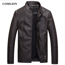 Мужские классические кожаные куртки онлайн-Mens Leather Jackets Motorcycle Jacket Leather Men Classic Bike Cowboy Jacket Male Plus Velvet Thick Coats  Clothing C94