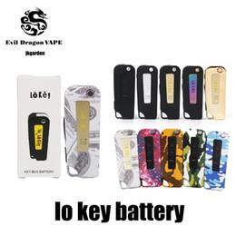 Argentina Nuevo LoKey Mod Batería Lo clave Vape 350 mah Precalentamiento 3 Configuración Voltaje 2.4-3.2-4.2V Para cartuchos de vape Dank CARROS EXÓTICOS Vapes Suministro