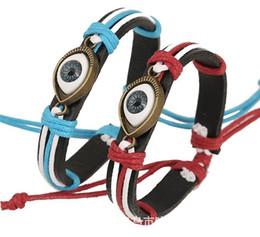 peru de fábrica Desconto Fábrica de jóias de comércio de exportação de couro Turquia Eye Cuff Bracelet