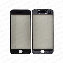 Etiqueta dianteira do vidro do iphone on-line-50 PCS Front Outer Vidro Lente de Vidro Da Tela de Toque com Quadro OCA Adesivo Polarizador para iPhone 6 6 s 7 8 Mais