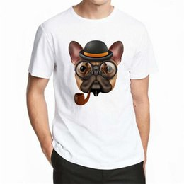 Buena calidad Camisetas Hombre Verano Perro Animal Impresión 3d Camiseta blanca Hombres Camisetas Manga corta Casual 100% algodón Marca Camiseta desde fabricantes