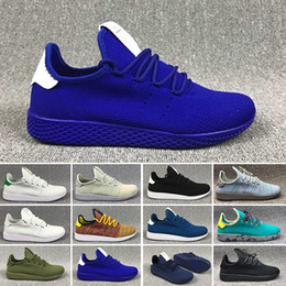 Adidas pw tennis hu 2018 DEERUPT повседневная обувь Pharrell Williams III Стэн Смит Теннис HU KPU Дизайнер Mesh повседневная обувь кроссовки Chaussures 36-45 от