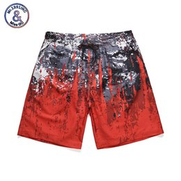 7cb6bb56c7 Mr.1991INC 2019 Summer New Arrive Men Surfing Beach Shorts Male Quick Dry  Red Board Shorts Swim Beach Wear Plus Size M-XXL