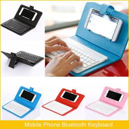 4,5-zoll-bildschirm-handy online-Handy Tastaturen Handy Bluetooth Leder Tastatur Für Android Windows IOS System IP 6 7 8 X Bildschirm 4,5-6,8 Zoll