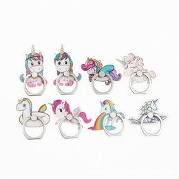 Yeni unicorn parmak yüzük mobil smartphone tutucu cep telefonu tüm telefon 8 stilleri için tutucu stand cheap ring holder for phones nereden telefonlar için halka tutacağı tedarikçiler