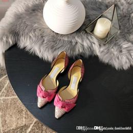 2020 sandalia talla 34 tacones bajos Zapatos de vestir de tacón bajo para mujeres, sandalias de tacón bajo con elegantes destellos y lazos, talla 34-39, venta en sandalia talla 34 tacones bajos baratos