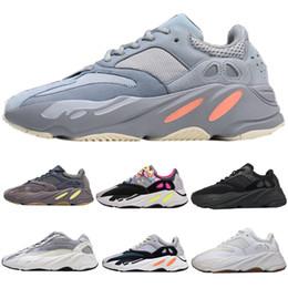 Wave Runner 700 Kanye West Glow in Dark Reflective line 2.0 Zebra Cream White Zapatillas deportivas para hombre para mujer Diseñador Zapatillas 36-48 desde fabricantes