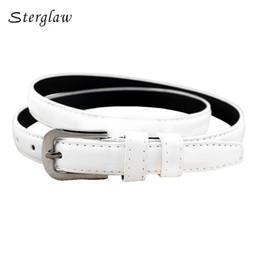 laque blanche Promotion 110cm Nouvel été dame mince ceintures et sangles de femmes 2018 casual ceinture blanche femme laque avec taille haute jeans ceinture F136