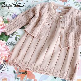 Adorable bébé filles robes automne coton à tricoter à manches longues 2pc Set enfant en bas âge bébé filles vêtements princesse Costumes Vestidos être J190506 ? partir de fabricateur