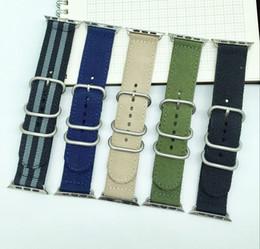 Deutschland Nylon Canvas Stoff Sport Smart Armband 22mm 24mm Qualität Nylon Uhrenarmband für Apple Watch Band 38mm 42mm Nato Strap supplier nylon nato fabric Versorgung