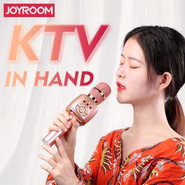 microfones de bobina móvel Desconto Joyroom JR-MC2 Microfone de Mão Microfone Externo Sem Fio Mircrophone Microfone de Mão Leitor de Microfone Gravador KTV Microfone