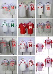 2020 johnny bank trikot Cincinnati 5 Johnny Bench Reds Jersey 30 Ken Griffey Jr. 14 Pete Rose 11 Barry Larkin 17 Chris Sabo 32 Bruce Retro Mesh-Baseball-Shirt günstig johnny bank trikot