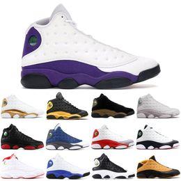 2019 mens 13 scarpe alte Nuove scarpe da basket da uomo 13 13s di design lupo grigio COURT VIOLA iper baroni scarpe da uomo sprots sneakers alte sconti mens 13 scarpe alte