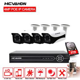 vga prise hdmi Promotion HCVAHDN 4CH 5MP POE NVR Vision Nocturne POE Caméra IP Système de vidéosurveillance Kit de vidéosurveillance Plug and Play APP XMEye HDMI Sortie VGA