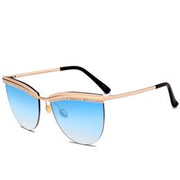f80f3191f 2019 Hot Mulheres Óculos De Sol Da Moda Da Marca de Moda Gradiente Óculos  de Alta Qualidade de Proteção UV Luxo Cat Eye Eyewear Designer Senhora  Óculos De ...