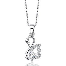 Nuovo ciondolo in argento 925 ciondolo collana di cristallo elegante temperamento xiaoxiangfeng set zircone ragazze gioielli ciondolo collana di moda donne da