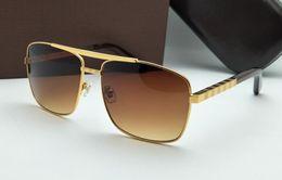 2019 lente cr Luxo 2019 Marca New Metal Frame Óculos de Sol para Homens e Mulheres logotipo quadrado na lente óculos de sol de grandes dimensões Armação de Metal óculos de Sol para Mulheres homens lente cr barato