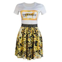 vestito nero dalla signora grassa Sconti Designer di lusso casual vestiti delle donne floreale stampato una linea di abiti da donna Womens Abbigliamento