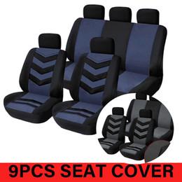 2019 copri sedile auto blu Coprisedili per auto Coprisedili per auto completo grigio blu Accessori interni universali Copriauto 9 pezzi GM copri sedile auto blu economici