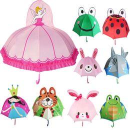 835b993bd358d Lovely Cartoon Design Umbrella For Kids High Quality 3D Optional Function Umbrella  Light For Rain Sun Home Umbrellas Free DHL WX9-692