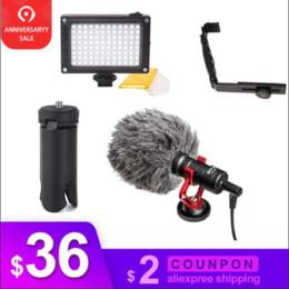 soportes de micrófono led Rebajas DJI Osmo móvil 3 2 Video instalación de micrófonos L Soporte de luz de vídeo LED, soporte de micro de Osmo móvil 3 Smooth 4 Vimble 2 cardán