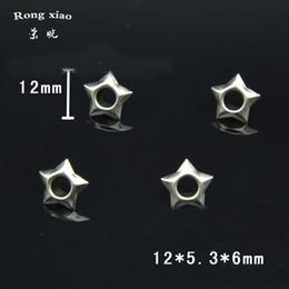 2019 verstellbares kunststoffarmband 12 mm Pentagram Star Design Neue Form Mode Nickel Öse Öse Kupfer Material Öse mit Unterlegscheiben Tasche Schuhzubehör