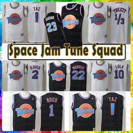 897ae906e262 2019 new Movie 23 Michael 1 Bugs Bunny Jersey! Taz 1 3 Tweety Space Jam  Tune Squad 22 Bill Murray 10 Lola 2 D.DUCK Pallacanestro Maglie Uomo space  jam tune ...