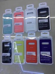 Samsung note estuche original online-2019 la más nueva funda de silicona original para iPhone XR XS MAX 5 6 7 8 Para Samsung S10 S10E S9 plus note, cubierta oficial del teléfono con caja de embalaje con logo