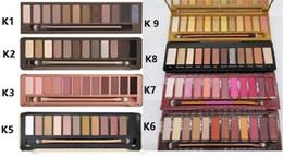 Paletes de maquiagem on-line-da composição da sombra paletas de sombra sombra de olho palete 12 cor nude 1.2.3.5.HEAT CHERRY de cay Maquiagem Mel Eyeshadow Paletas DHL livre