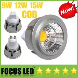Affichage ampoule en Ligne-COB Led Ampoules 9W 12W 15W Dimmable Led Spot Spot GU10 MR16 E27 E14 GU5.3 B22 Lampe Spot Downlight Bombilla Fenêtre Affichage Penderie