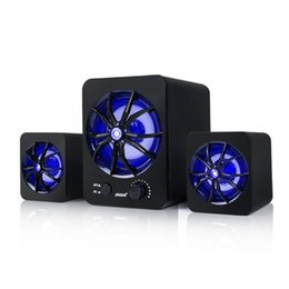 D-207 Mini RGB Computer Speaker USB Wired Combination Speaker Colorful LED Bass Stereo Lettore musicale Subwoofer Speaker per PC Laptop da
