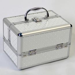 Косметика для чемоданов онлайн-Портативный Профессиональный Косметичка Чемоданы Для Косметики Большой Емкости Женщины Кисти Макияж Box Большая Емкость Дорожные Сумки