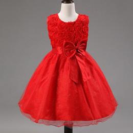 красные белые полосатые дети платье Скидка 2019 взрывные Детские платья девушки платья A-образная юбка аппликация мальчик Роза Принцесса юбка Принцесса пачка блестками