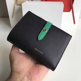 carteiras de bolinhas para mulheres Desconto 2020 couro de couro senhoras curto carteira palito padrão de função dupla fivela carteira fivela portador de passaporte cartão de carteira clipe